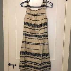 Blue/off white striped dress